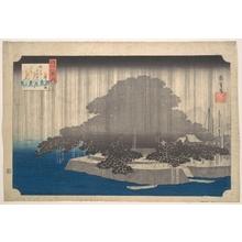 Utagawa Hiroshige: Evening Rain on the Karasaki Pine - Metropolitan Museum of Art