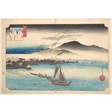歌川広重: Returning Geese at Katada - メトロポリタン美術館
