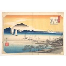 歌川広重: Fishing Boats Returning to Yabase - メトロポリタン美術館