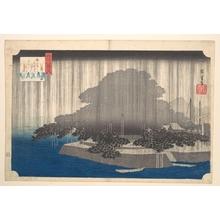 Utagawa Hiroshige: Evening Rain at Karasaki-Pine Tree - Metropolitan Museum of Art