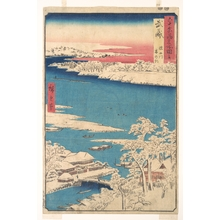 Utagawa Hiroshige: Morning after a Snowfall, the Sumida River, Musashi Province , from the series Views of Famous Places in the Sixty-Odd Provinces - Metropolitan Museum of Art