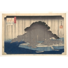 Utagawa Hiroshige: Evening Rain at Karasaki, Pine Tree - Metropolitan Museum of Art