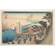 歌川広重: Shinagawa; Shoko Detachi - メトロポリタン美術館