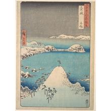 歌川広重: Winter View of Shimasaku in the Province of Iki - メトロポリタン美術館