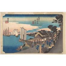 歌川広重: Daybreak at Shinagawa - メトロポリタン美術館