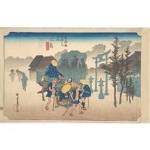 歌川広重: Mishima, Asa Kiri - メトロポリタン美術館