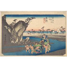 Utagawa Hiroshige: Okitsu, Okitsugawa - Metropolitan Museum of Art
