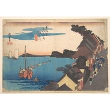 歌川広重: View of Kangawa at Sunset - メトロポリタン美術館