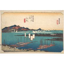 歌川広重: Distant View of Miho Beach from Ejiri - メトロポリタン美術館