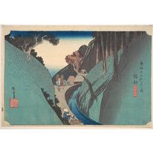 Utagawa Hiroshige: Okabe; Utsu no Yama - Metropolitan Museum of Art