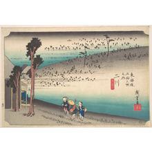 歌川広重: Futagawa, Saru ga Baba - メトロポリタン美術館