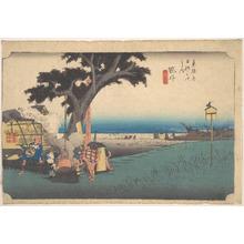 Utagawa Hiroshige: Fukuroi; De Chaya - Metropolitan Museum of Art