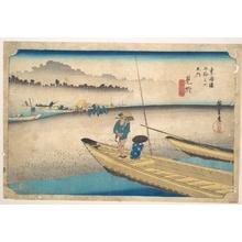 歌川広重: Mitsuke; Tenryugawa Ferry, Station No. 29 - メトロポリタン美術館