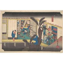 歌川広重: Akasaka, Ryosha Sho-fu - メトロポリタン美術館
