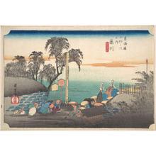 歌川広重: Fujikawa, Bo Bana - メトロポリタン美術館