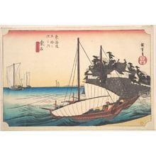 歌川広重: Kuwana, Shichi-Ri Watashi Guchi - メトロポリタン美術館