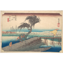Utagawa Hiroshige: Yokkaichi, Sanchokawa - Metropolitan Museum of Art