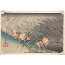 Utagawa Hiroshige: Sudden Shower in Shôno - Metropolitan Museum of Art