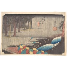 歌川広重: Spring Rain at Tsuchiyama, from the series Fifty-three Stations of the Tôkaidô - メトロポリタン美術館
