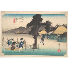 歌川広重: Mizukuchi, Meibutsu Kampyo - メトロポリタン美術館