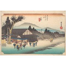 歌川広重: Ishibe, Megawa Sato - メトロポリタン美術館