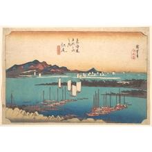 歌川広重: Panorama of Miwo Pine Wood from Ejiri - メトロポリタン美術館