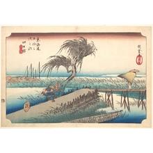 歌川広重: Mie River at Yokkaichi - メトロポリタン美術館