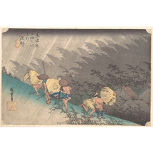 Utagawa Hiroshige: Shower at Shôno - Metropolitan Museum of Art