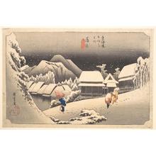 歌川広重: Evening Snow - メトロポリタン美術館