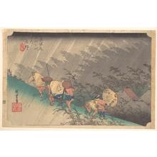 Utagawa Hiroshige: White Rain at Shôno - Metropolitan Museum of Art