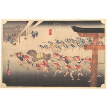 歌川広重: Festival at Atsuta Temple - メトロポリタン美術館