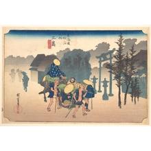 歌川広重: Morning Mist - メトロポリタン美術館