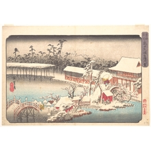 Utagawa Hiroshige: Tenmangû Shrine at Kameido in Snow - Metropolitan Museum of Art