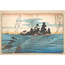 歌川広重: Haneda Rakugan - メトロポリタン美術館