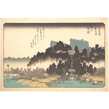 歌川広重: Vesper Bells at Ikegami - メトロポリタン美術館