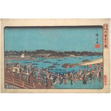 歌川広重: Ryogoku Hanabi no Zu - メトロポリタン美術館