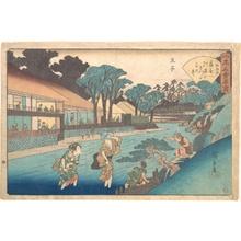 Utagawa Hiroshige: The Ôgiya at Ôji - Metropolitan Museum of Art