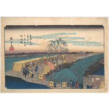 Utagawa Hiroshige: Shin Yoshiwara Nihon Tsutsumi Emonzaka Akatsuki - Metropolitan Museum of Art