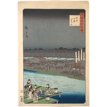 二歌川広重: Cooling Off at the Kamo River near Shijo in Kyoto - メトロポリタン美術館