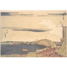 Shotei Hokuju: View of Ryogoku Bridge in the Eastern Capital - Metropolitan Museum of Art