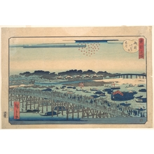 二歌川広重: Ryogoku Kawarabiraki Hanami - メトロポリタン美術館