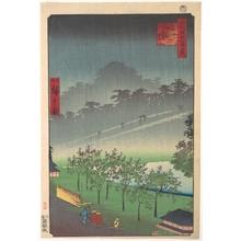 二歌川広重: Akasaka Kiri-Ratake Uchu Yu Kei - メトロポリタン美術館