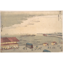 Shotei Hokuju: Shore Scene Showing European Influence - Metropolitan Museum of Art