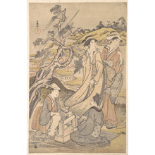 Kubo Shunman: Group of Four Women on the Bank of a Winding Stream - Metropolitan Museum of Art