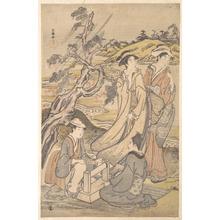 窪俊満: Group of Four Women on the Bank of a Winding Stream - メトロポリタン美術館