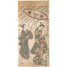 Torii Kiyohiro: The Actors Nakamura Tomijirô in the Role of Ono no Komachi and Sanogawa Ichimatsu in the Role of Her Servant - Metropolitan Museum of Art