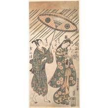 Torii Kiyohiro: The Actors Nakamura Tomijirô in the Role of Ono no Komachi and Sanogawa Ichimatsu in the Role of Her Servant - Metropolitan Museum of Art