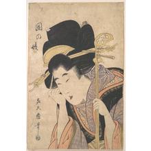 Kitagawa Kikumaro: A Geisha with a Shamisen - メトロポリタン美術館