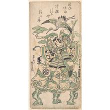 Torii Kiyomasu I: Ichimura Manzo as Yatsushi Goro and Segawa Kikujiro as Yatsushi Shosho - Metropolitan Museum of Art