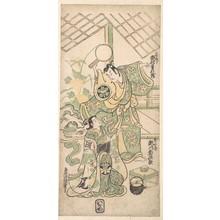 鳥居清倍: Scene from a Modified Soga Play - メトロポリタン美術館